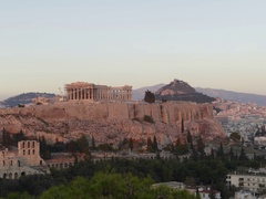 4K Dramatic day to night Timelapse Skyline Greece Athens Acropolis Parthenon Arkistovideo