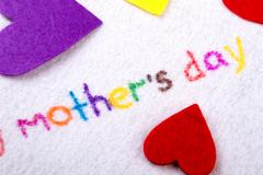 Mother`s Day title. Stock Photos
