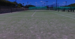 Tennis court flyover Stock Footage