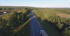 Aerial shot country roads Stock Footage
