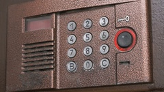 Control panel of the modern intercom system Stock Footage