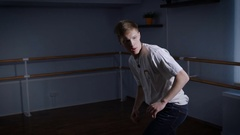Hall for occupations dances. The young break the dancer is engaged. He works the Stock Footage