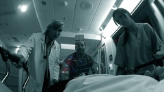 Augmented Reality of Medical information in hospital Stock Footage