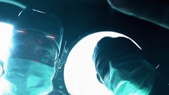Augmented Reality of Surgeon Working In the Operating Room Stock Footage