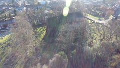 Rising aerial view of an Anglican Church. Stock Footage