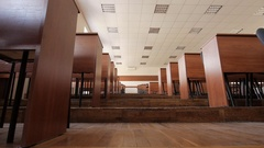 Empty auditorium, classroom, college, school, university Arkistovideo