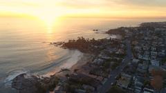 4K Laguna Beach Sunset Stock Footage