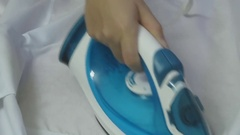 Irons and ironing board Stock Footage