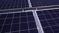 Solar Panel covered industrial rooftop Stock Footage