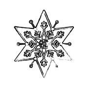Snowflake winter snow Stock Illustration