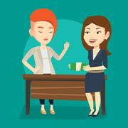 Uncorrupted woman refusing to take bribe Stock Illustration