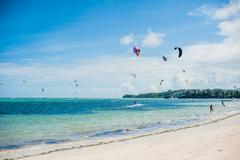A view of Boracay island with species Stock Photos