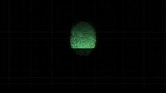 4k Unique fingerprint identity password scan background Stock Footage