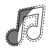 Music note symbol Stock Illustration