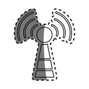 Antenna communication technology Stock Illustration