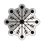 Snowflake xmas winter Stock Illustration