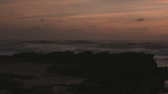 Cozumel Beach Sunrise Scenic Panning Shot Stock Footage
