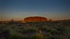 Uluru timelapse at sunset, Ayers Rock Stock Footage