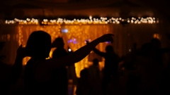 Funny disco party - dancing people in club Stock Footage