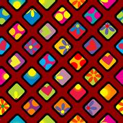 Happy wrapping paper design Stock Illustration