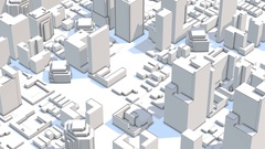 4k abstract urban business construction Stock Footage
