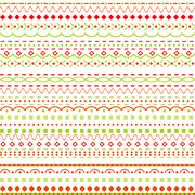 Whimsical background with dots and  lines Stock Illustration