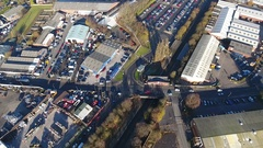 Aerial view of an industrial area in Rowley Regis, UK. Stock Footage