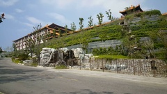 Fo Guang Shan Monastery, main gate Stock Footage