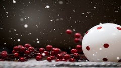 Snowing Christmas background Stock Footage