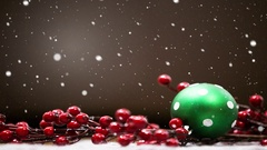 Snowing Christmas background , winter holiday card Stock Footage