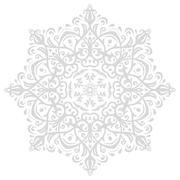 Elegant Ornament in the Style of Barogue Stock Illustration