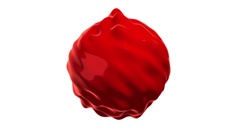 3d noise abstract red mercury sphere. 3D render HD footage. Stock Footage