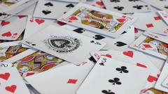 PIle of random poker cards Stock Footage