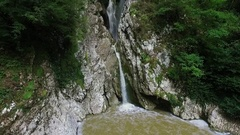 Aerial: Waterfall in Sochi. Stock Footage