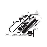 Minimal abstract background black and white Stock Illustration