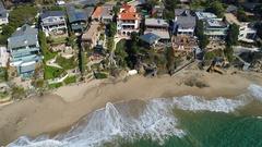 4K Laguna Beach Coastline Stock Footage