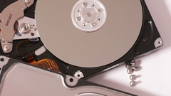 Inside hard drive disk Stock Footage