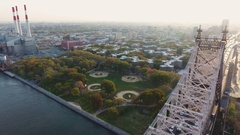 New York City public housing projects - aerial - 4k Stock Footage