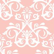 Seamless Wallpaper in the Style of Baroque Stock Illustration