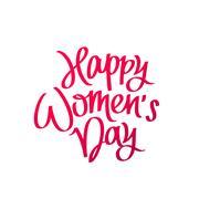 Happy Women's Day. Calligraphy Stock Illustration