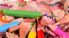 Pencil spiral remains Stock Footage