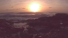 Cozumel Beach Sunrise Static Shot Stock Footage