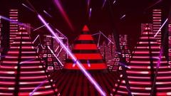 Red Neon VJ Loop HD Stock Footage
