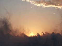 Sunset Sky over clouds view flying beautiful natural colors Stock Footage