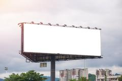 Billboard or advertising poster for advertisement concept background Stock Photos