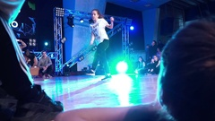 Young girl dancing hip-hop Arkistovideo