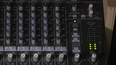 Mixing Board, Digital Audio Meters Stock Footage