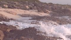 Cozumel Beach Sunrise Panning Tight Shot Stock Footage