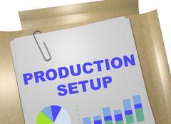 Production Setup - business concept Stock Illustration