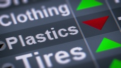Plastics index on the screen. Down. Looping. Stock Footage
